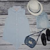 Зара Zara маечка блузка блуза для модниц 9 - 10 лет 140 см