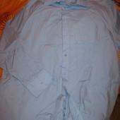 Рубашка мужская,хлопок+полиэстер,размер по вороту-45(р.56-58). Kingfield (кингфилд).Нюанс.