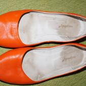 балетки оранжевые 39 р кожа