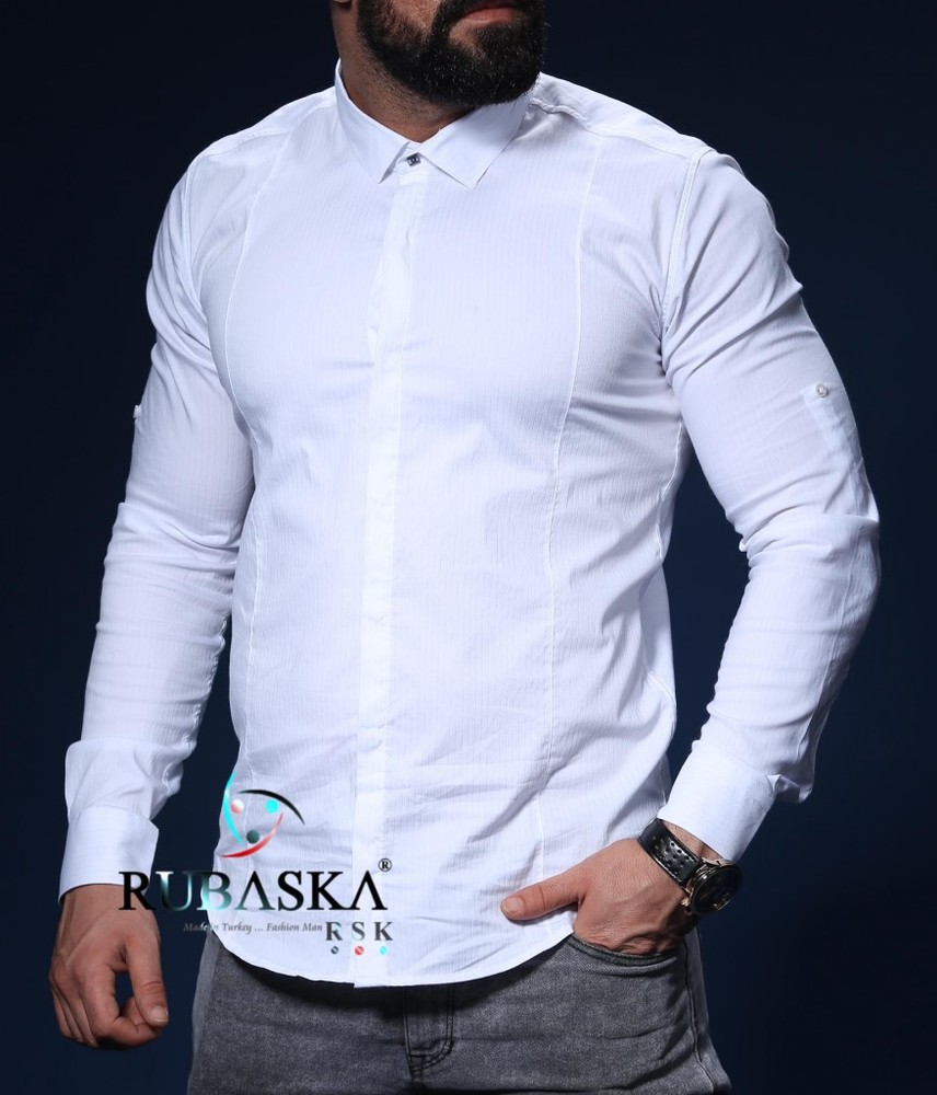 Белая мужская рубашка фото №1
