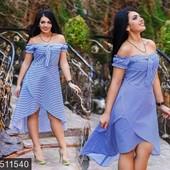Размеры 50-56 Стильное женское платье на лето