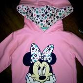 Реглан,капюшонка Минни Маус Disney на 3-4года!!!