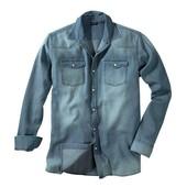 Мужская джинсовая рубашка L-XL от Livergy