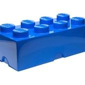 Lego Контейнер бокс для хранения лего и игрушек синий кирпичик 40041731 large creative brick box
