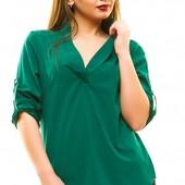 Размеры 50-56 Стильная женская рубашка на лето