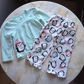 Теплая пижама на девочку фирмы Carter's на возраст 2 годика