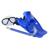Набор для плавания маска, трубка, ласты M 0026 U/R
