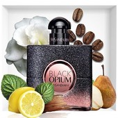 Black opium floral shock Yves Saint Laurent 100% оригинал, духи, парфюмерия, парфюм, распив, Лорен