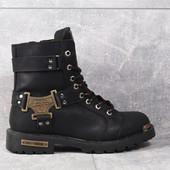 Ботинки Harley-Davidson, р. 36-45, кожаные, термо, код mvvk-1198