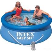 Семейный бассейн с фильтр насосом Intex 28112