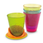 Fisher-Price Детские стаканы поильники с подставкой Непроливайки table time cups 'n coaster Y3536