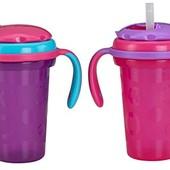 Fisher-Price Набор из 2-х штук поильников розовый поильник stack n store sippy cup straw top