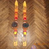 Детские лыжи горные Tecno Pro с ботинками Rossignol
