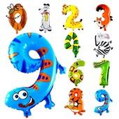 Надувные шарики фольгированные, шары для праздника цифры, день рождения