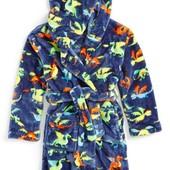 новый флисовый халат Hatley 4-5 лет мальчику Англия