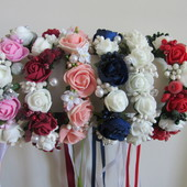 Веночек на пучек гульку с розами цветами. Разные цвета. В наличии!