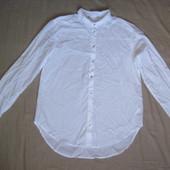 Белая натуральная рубашка (S) мужская