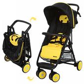 Детская коляска Motion M 3295-6, прогулочная, книжка, eva-колеса, желто-черный