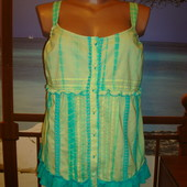 Блуза\маечка мятная\хлопковая\хлопок per una р.12-14 Marks & Spencer