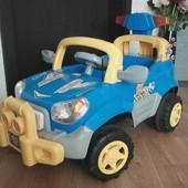 Машинка полиция аккумуляторная синяя, б/у