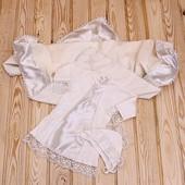 Набор для крещения крыжма крестильная рубашка для крестин на крестины