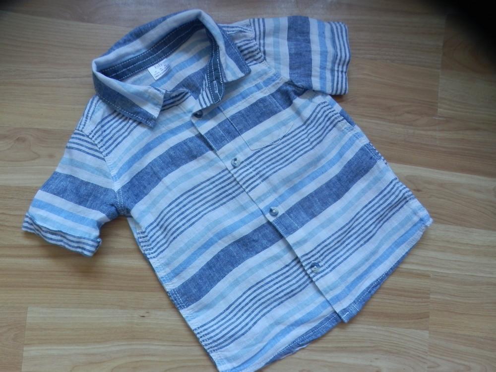 Фирменная рубашка  f&f малышу 1-1,5 года состояние новой фото №1