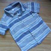 Фирменная рубашка  F&F малышу 1-1,5 года состояние новой
