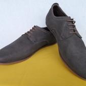 Мужские кожанние туфли Pier One, made in India р. 44-44. 5