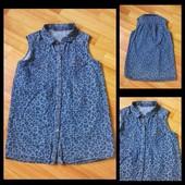 Джинсовая рубашка H&M, размер S