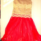 Нарядное платье праздничное платье 7-8 лет   (ог 68, дл. 96)