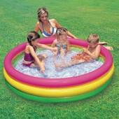 Детский надувной бассейн радуга Intex 57412 173л