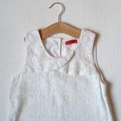 Кружевное платье на хлопковой подкладке для девочки 10-11 лет