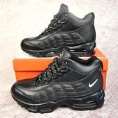Зимние высокие кроссовки Nike Air Max 95 black