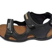 Мужские сандалии Мужские Ecco E3T черные (реплика)