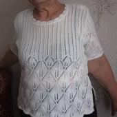 Ажурная блуза 54-56 р-р