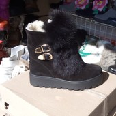 Ботинки Кожа Замш Натуральный мех