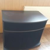 Черная тумбочка под телевизор бу