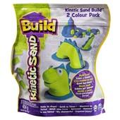 Kinetic Sand Кинетический песок зеленый и синий динозаврик build 2 colour pack (blue/green)