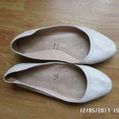 шкіряні балетки на широкі стопи.26см