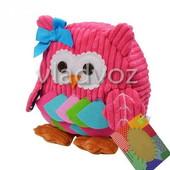 Детский рюкзак для девочки сова игрушка малиновая