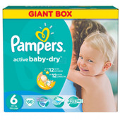 Выгодно 1 памперс №6=5 грн.Pampers Active baby-dry 6 (15+ kg Exstra Large)