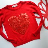 Свитер,кофта с сердцем H&M (2-4 года)