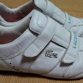 Кожаные кроссовки Lacoste оригинал р.38-23.5см.