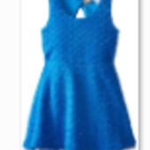 Яркое и оригинальное платье синего цвета на любой праздник на девочку 4-5 лет в наличии