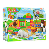 Конструктор (аналог лего дупло, lego duplo) Зоопарк JDLT 5089