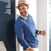 Хлопковый свитер пуловер от Tcm Tchibo, размер 52-54 европейский