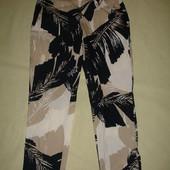 Фирменые Zara летние укороченные брюки на 42-44 размер новые