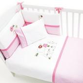 Постельный комплект 'Tweet Home' (6 предметов) Funnababy Турция розовый 12119634