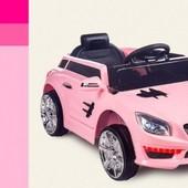 Детский электромобиль Розовый (C1730) с пультом управления