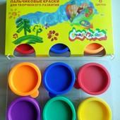 Пальчиковые краски 6цветов по 30мл